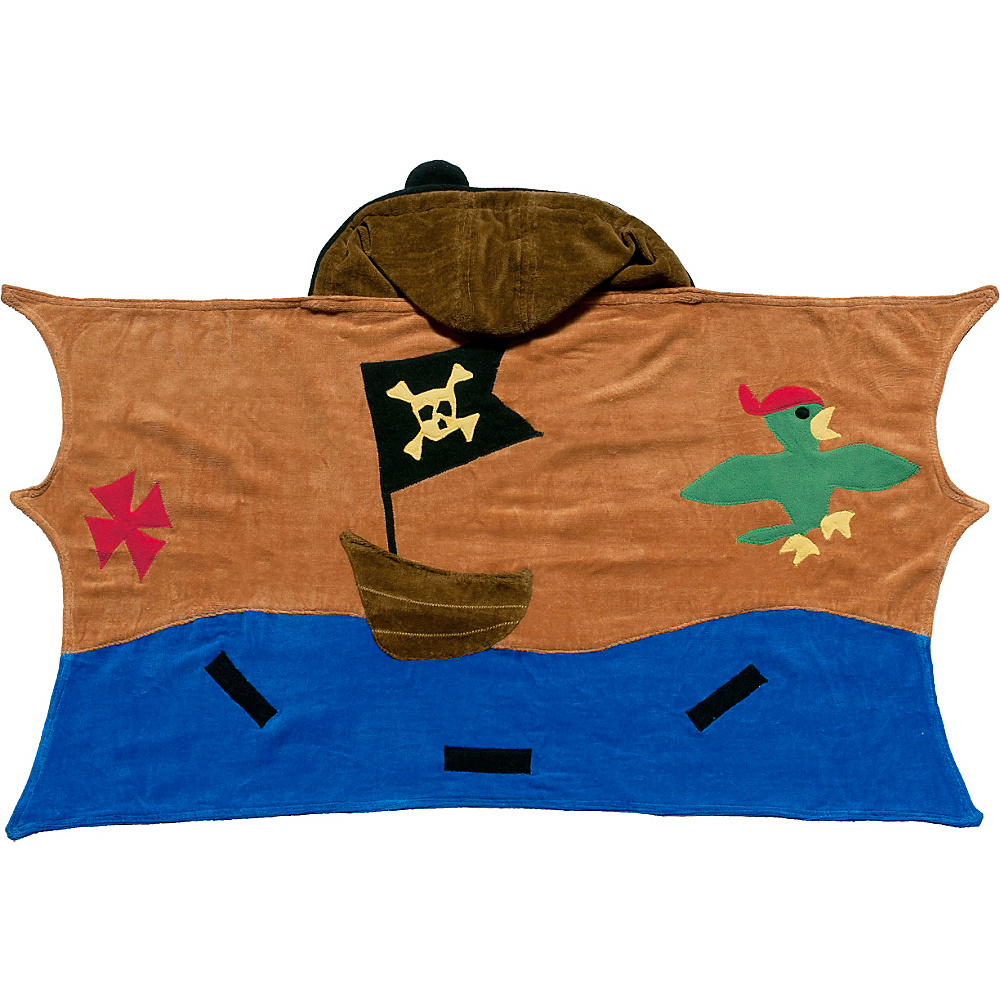 Kidorable Pirate Hooded Towel Brown - Small - Kidorable Travel Health & Beauty - Travel Accessories, Travel Health & Beauty