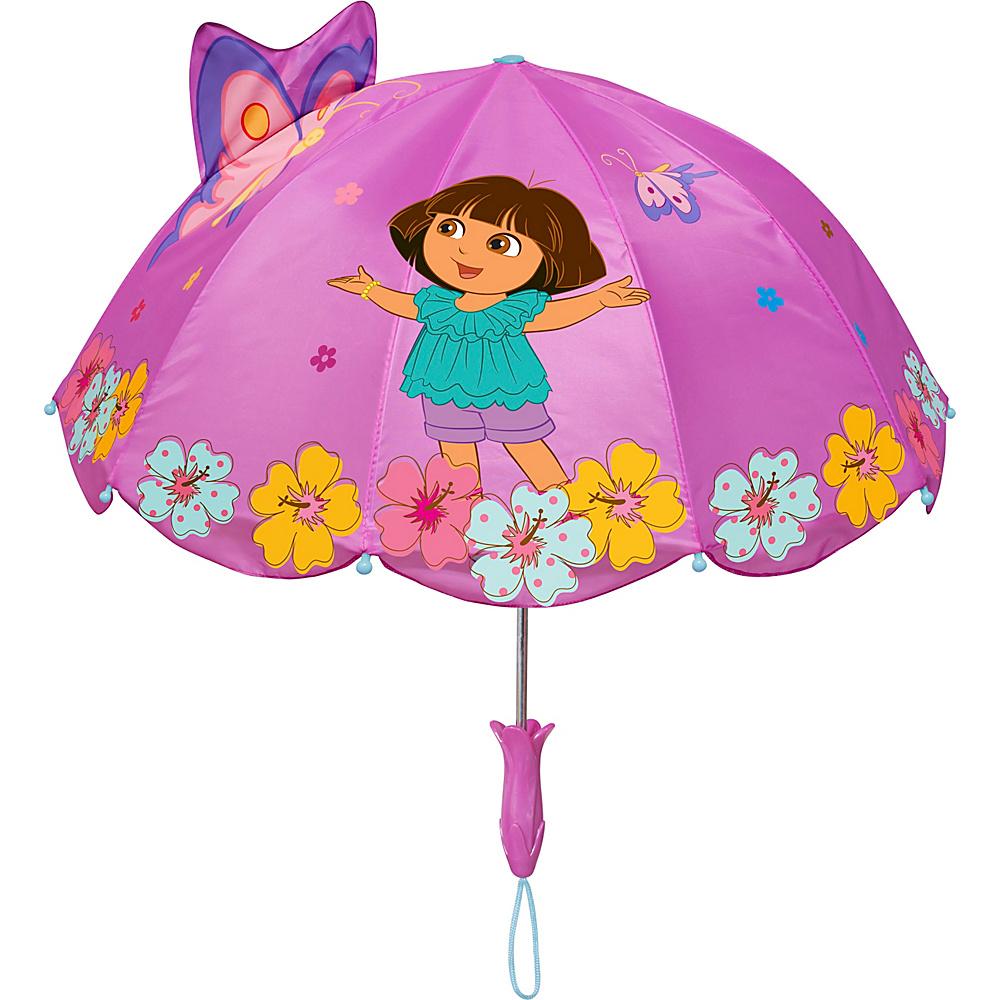 Kidorable Dora Umbrella Pink - One Size - Kidorable Umbrellas and Rain Gear - Travel Accessories, Umbrellas and Rain Gear