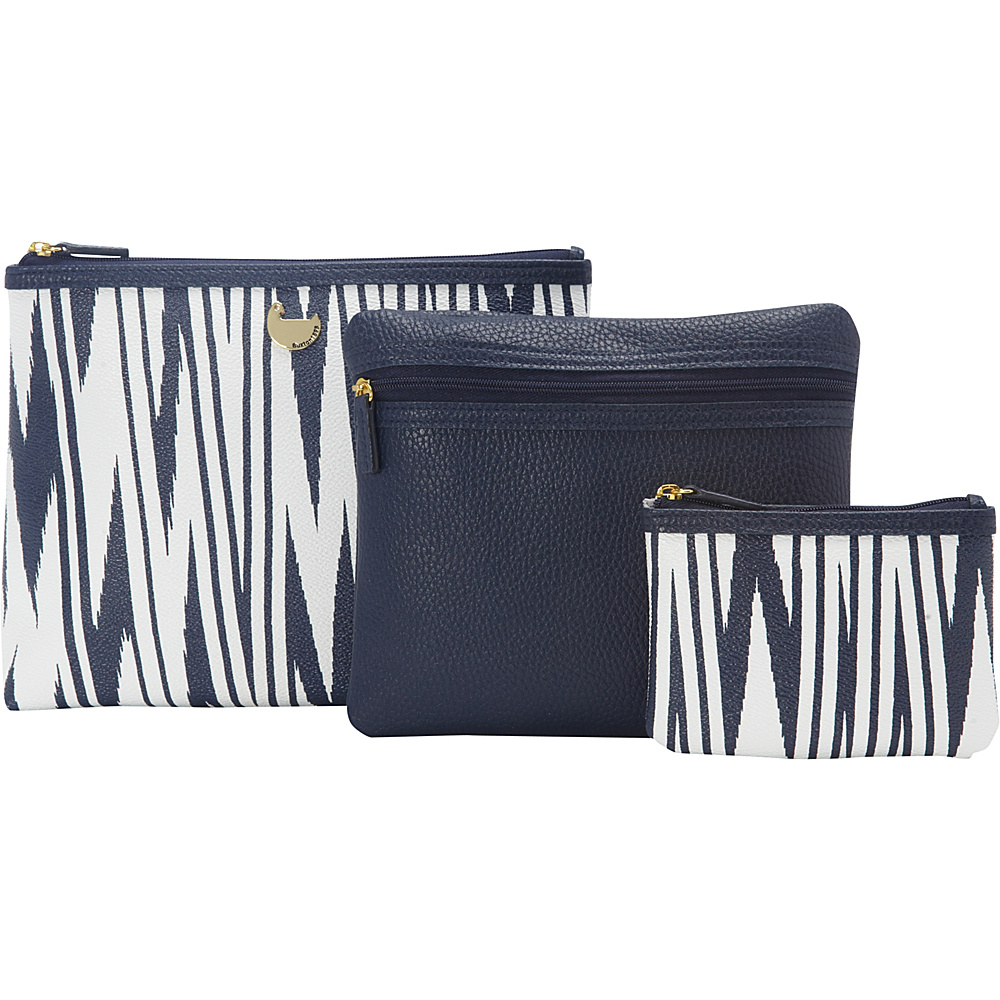 Buxton Chevron Travel Collection 3-Piece Cosmetic Case Navy - Buxton Womens SLG Other - Women's SLG, Women's SLG Other