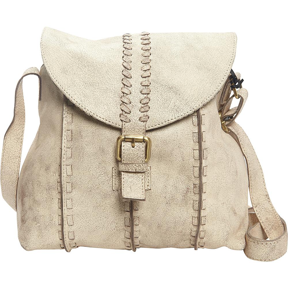 Latico Leathers Kimber Shoulder Bag Crackle White - Latico Leathers Leather Handbags - Handbags, Leather Handbags