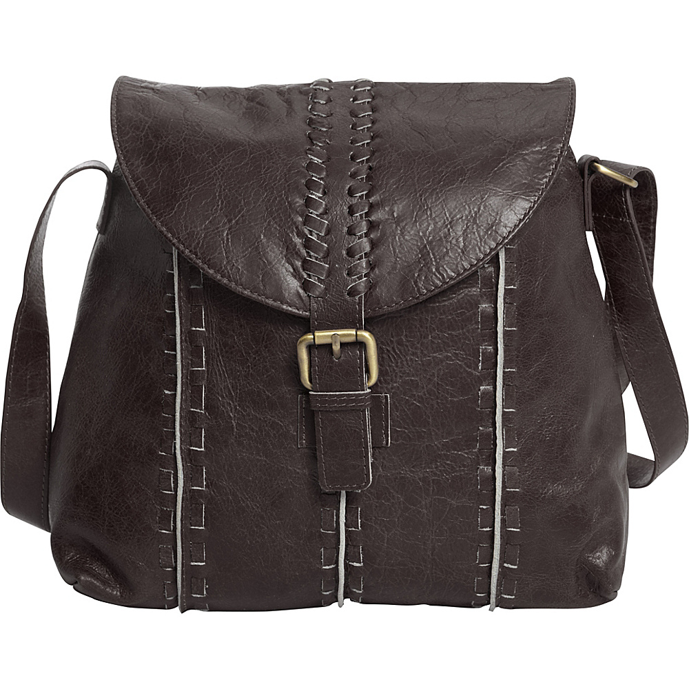 Latico Leathers Kimber Shoulder Bag Distressed Brown - Latico Leathers Leather Handbags - Handbags, Leather Handbags
