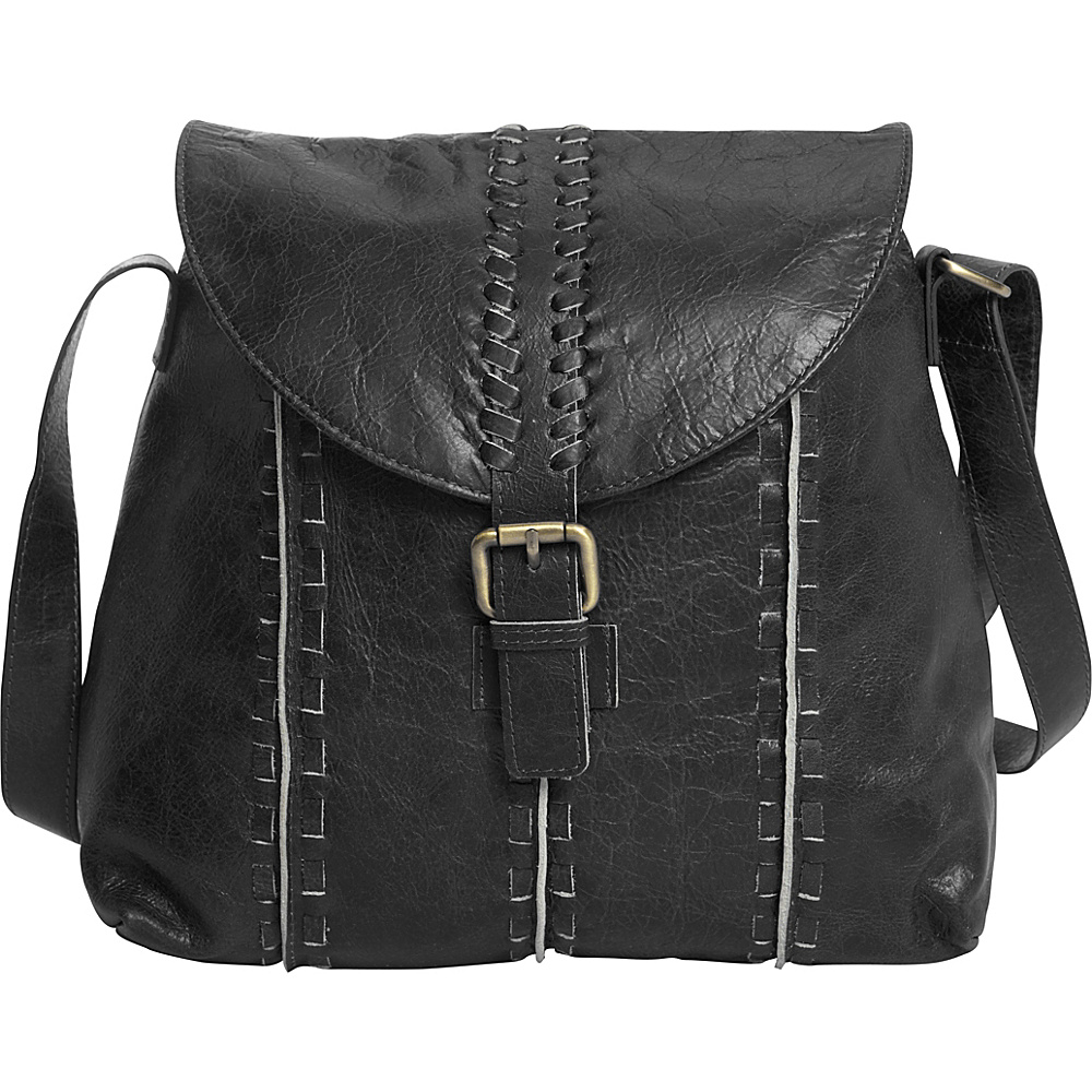 Latico Leathers Kimber Shoulder Bag Washed Black - Latico Leathers Leather Handbags - Handbags, Leather Handbags