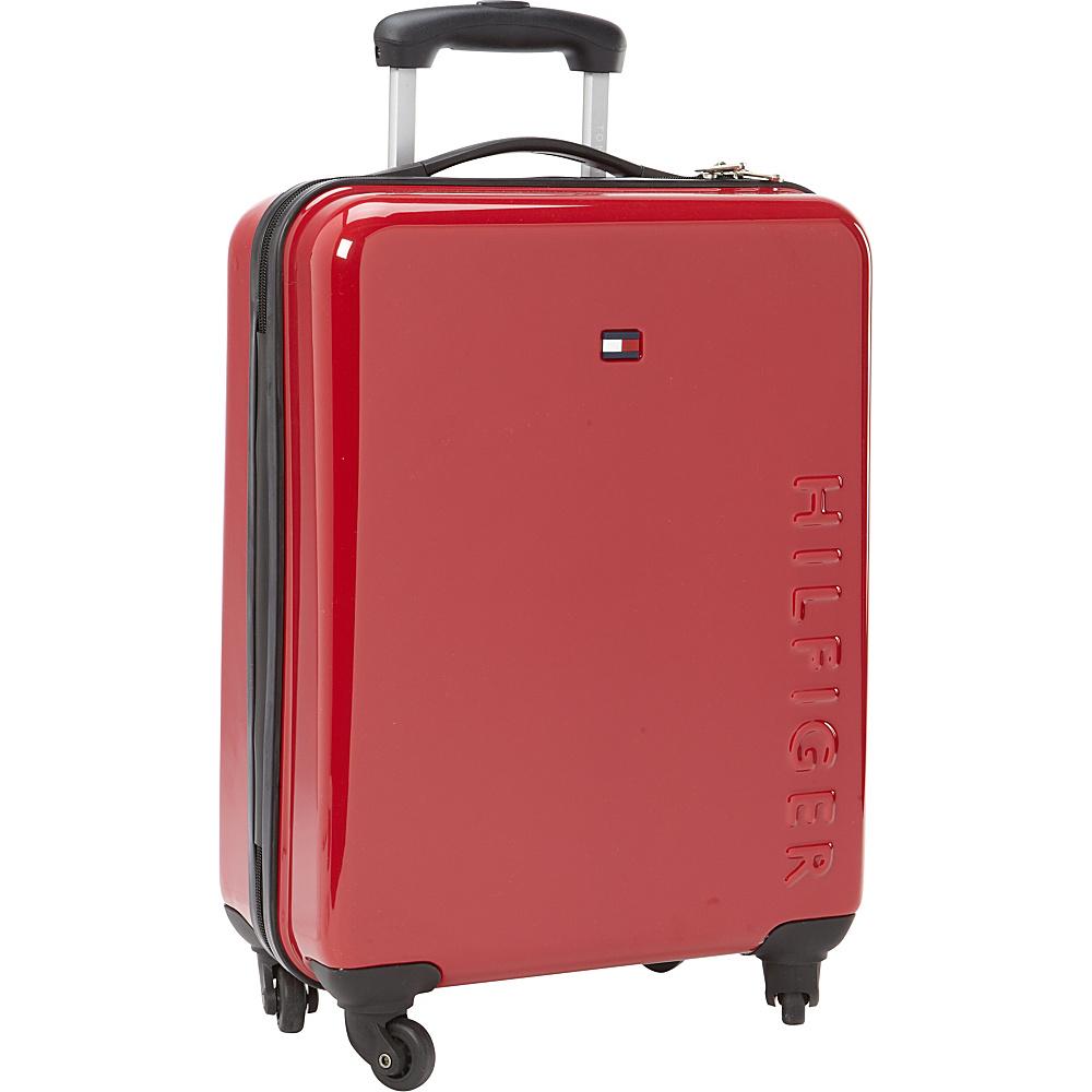 Tommy Hilfiger Luggage Bristol 21 Hardside Carry On Spinner Red Tommy Hilfiger Luggage Hardside Carry On