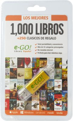e-Go! Portable Library 1,250 Spanish language eBooks orange - e-Go! Portable Library Electronic Accessories