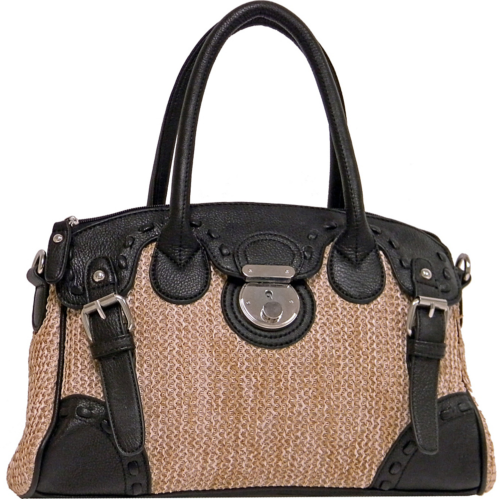 Donna Bella Designs Hayden Tote Black - Donna Bella Designs Fabric Handbags