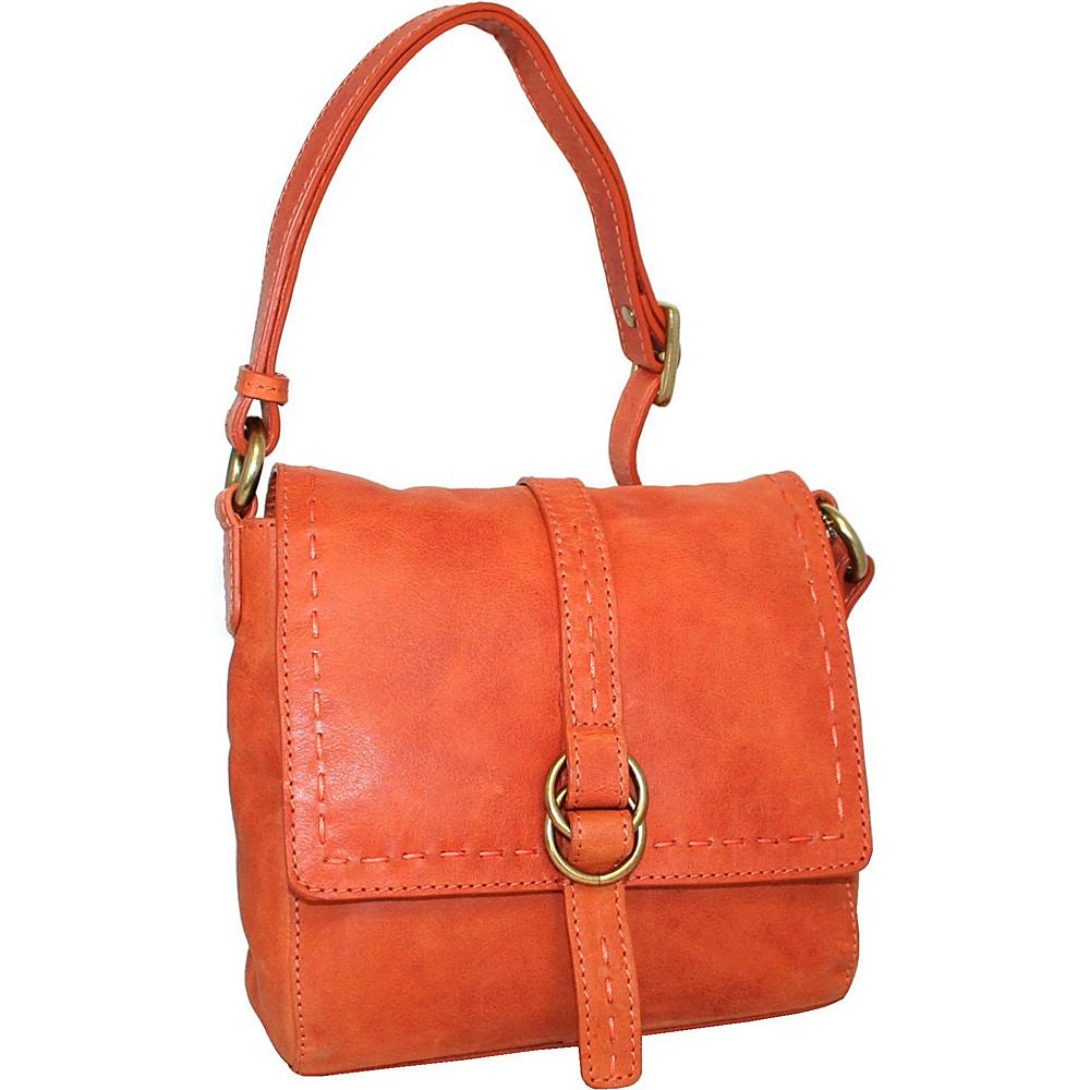 Nino Bossi My Sharona Crossbody Orange - Nino Bossi Leather Handbags - Handbags, Leather Handbags