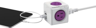 PowerCube Rewireable USB Cable And Adapter Orchid Purple - PowerCube Electronic Accessories