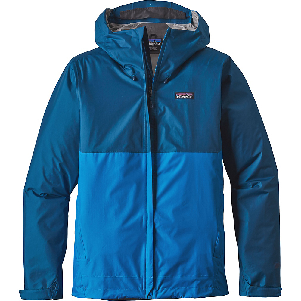 Patagonia Mens Torrentshell Jacket L - Big Sur Blue with Andes Blue - Patagonia Mens Apparel - Apparel & Footwear, Men's Apparel