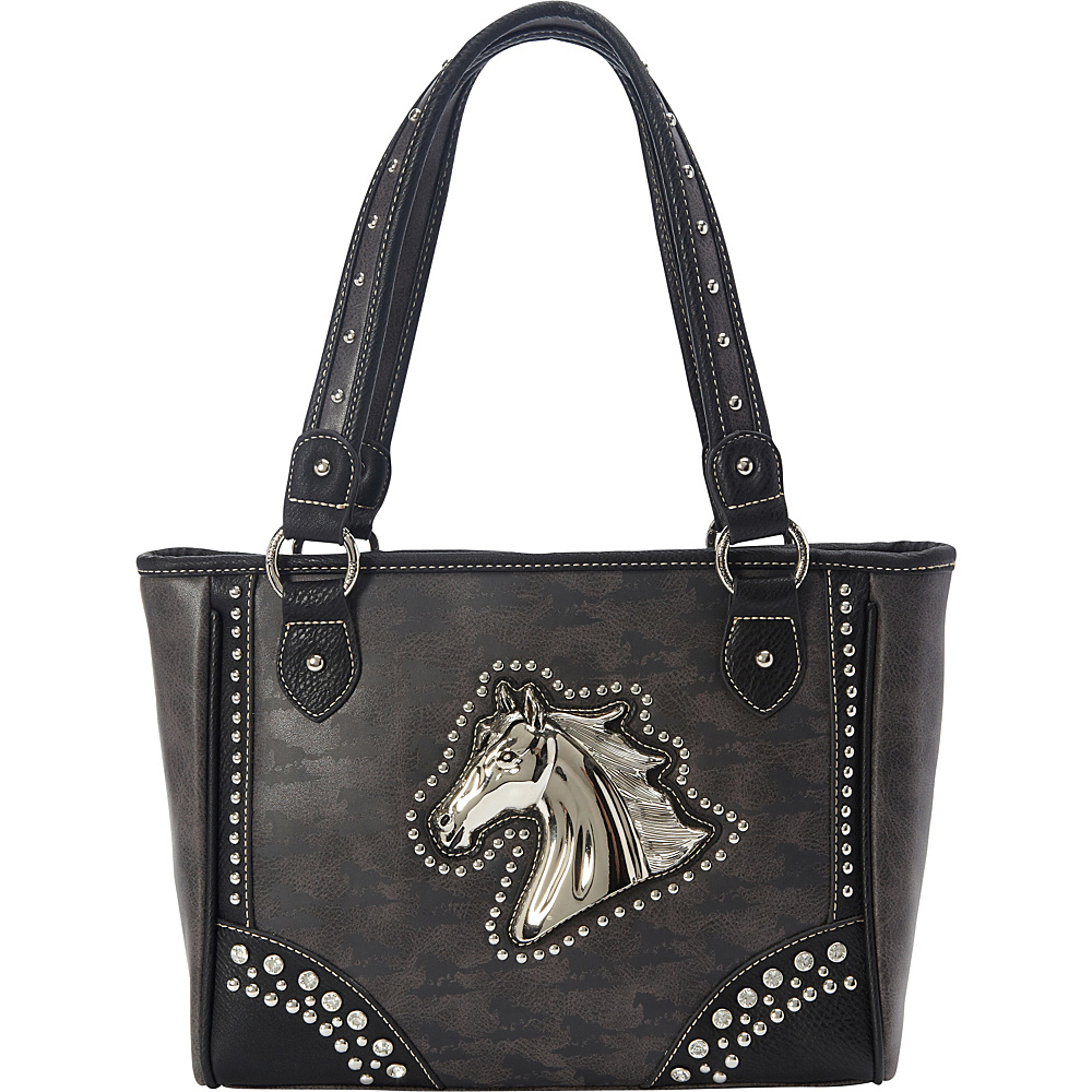 Montana West Horse Collection Tote Grey - Montana West Manmade Handbags
