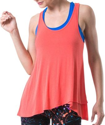Electric Yoga Loose Tank Top L - Coral - Electric Yoga Women's Apparel