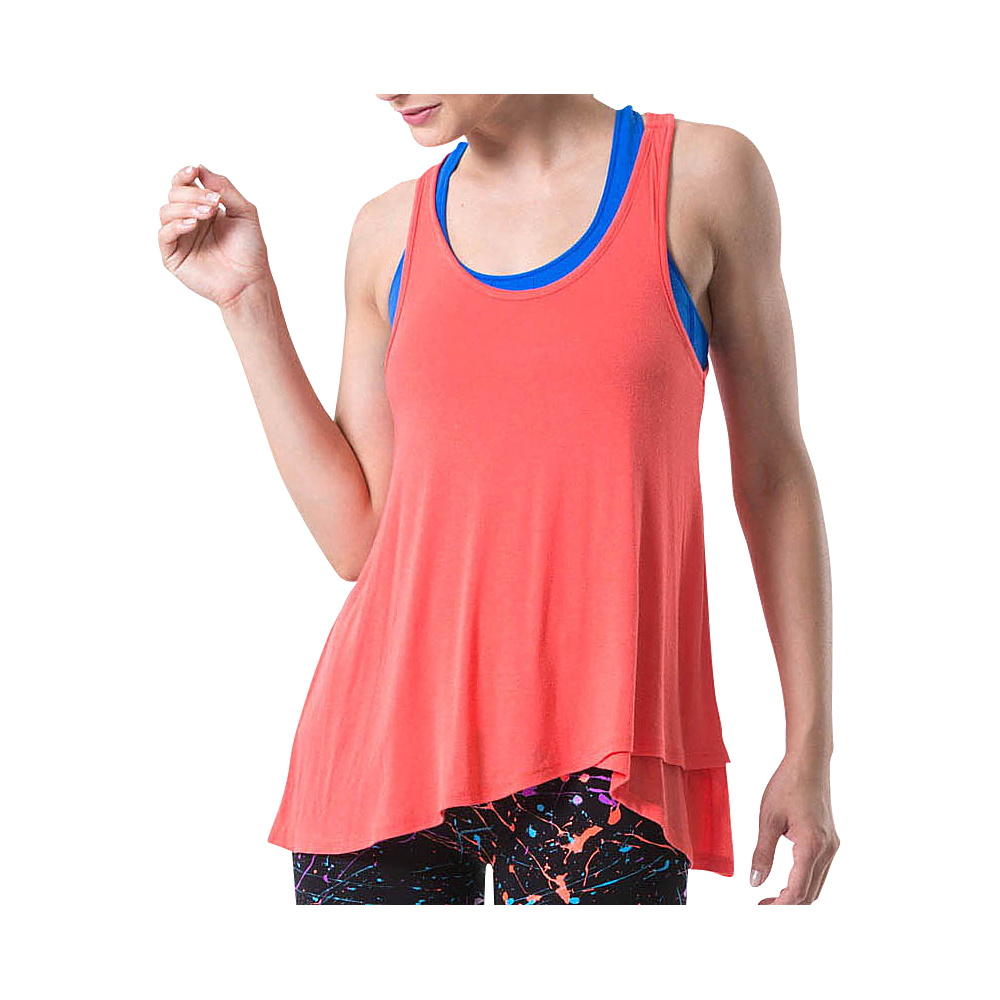 Electric Yoga Loose Tank Top L Coral Electric Yoga Women s Apparel