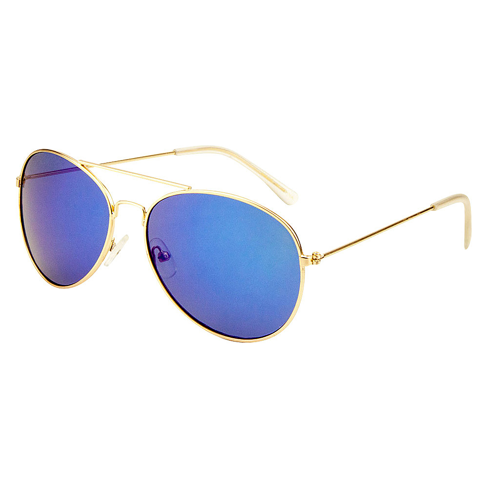SW Global Eyewear Leon Double Bridge Aviator Fashion Sunglasses Blue - SW Global Sunglasses - Fashion Accessories, Sunglasses