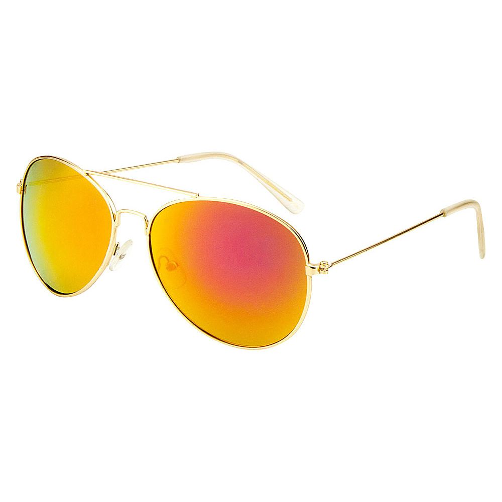 SW Global Eyewear Leon Double Bridge Aviator Fashion Sunglasses Orange - SW Global Sunglasses - Fashion Accessories, Sunglasses