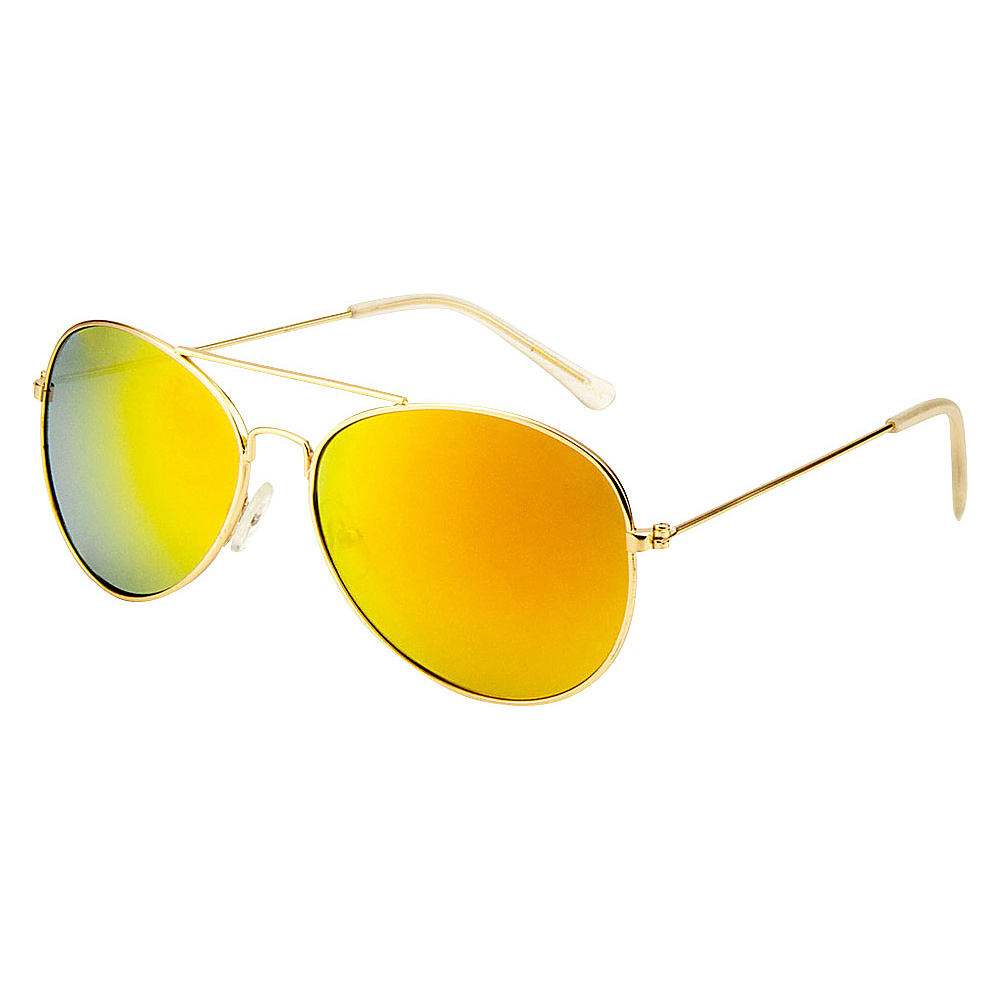 SW Global Eyewear Leon Double Bridge Aviator Fashion Sunglasses Yellow - SW Global Sunglasses - Fashion Accessories, Sunglasses