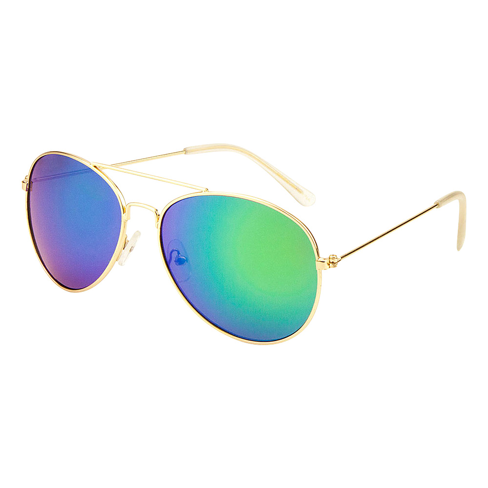 SW Global Eyewear Leon Double Bridge Aviator Fashion Sunglasses Green - SW Global Sunglasses - Fashion Accessories, Sunglasses