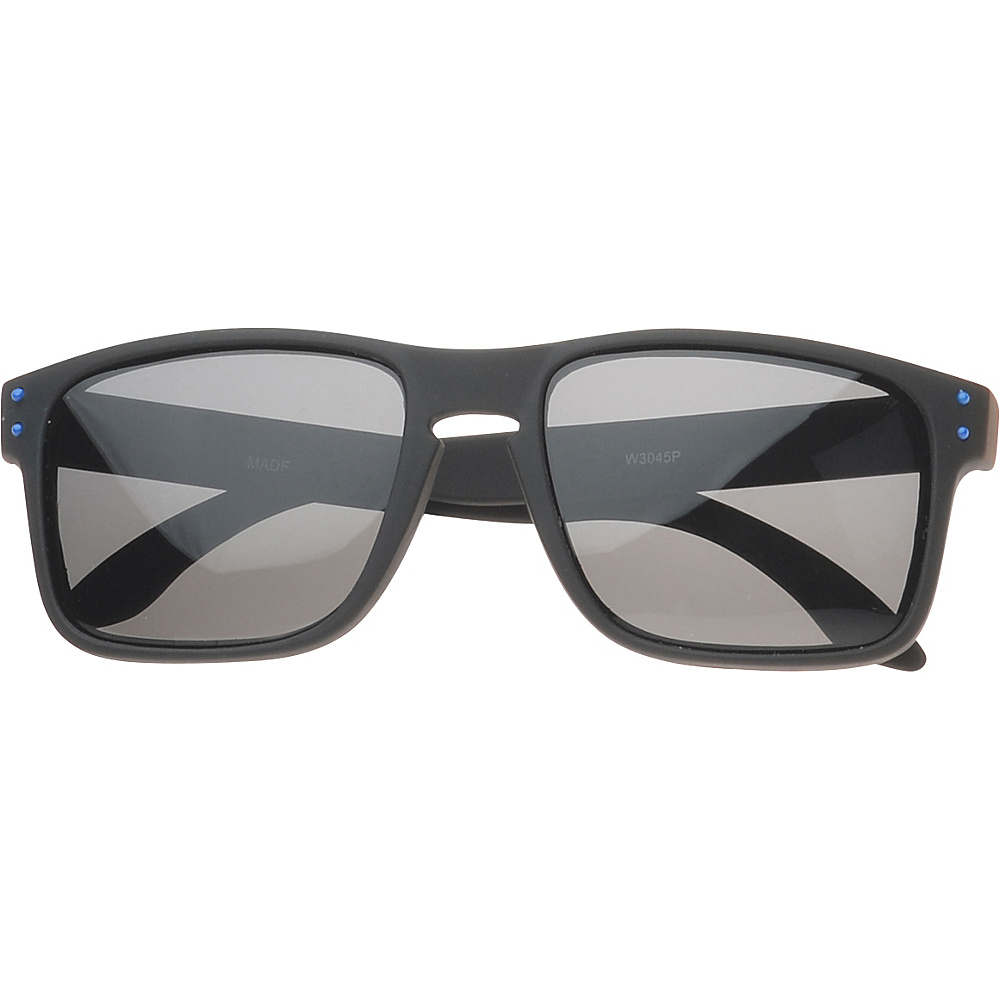 SW Global Polaroid Eyewear Glenn Rectangle Fashion Sunglasses Black SW Global Sunglasses