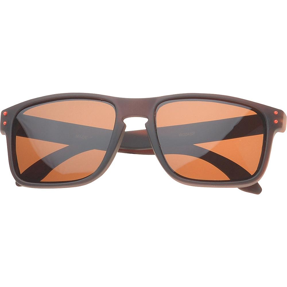 SW Global Polaroid Eyewear Glenn Rectangle Fashion Sunglasses Brown SW Global Sunglasses