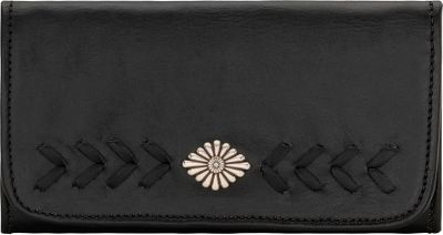 American West Mohave Canyon Ladies Tri-Fold Clutch Wallet Black - American West Women's Wallets