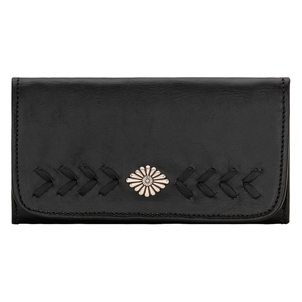 American West Mohave Canyon Ladies Tri Fold Clutch Wallet Black American West Women s Wallets