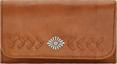 American West Mohave Canyon Ladies Tri-Fold Clutch Wallet Golden Tan - American West Women's Wallets