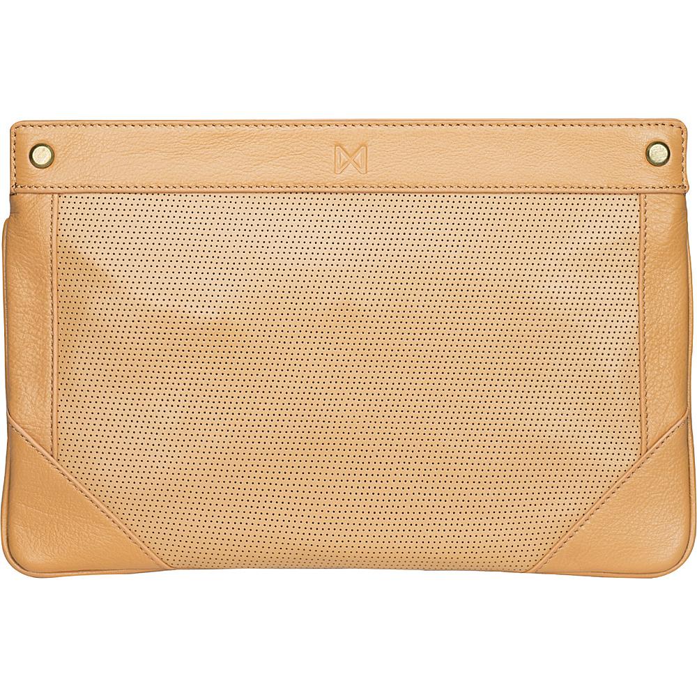 MOFE Lacuna Clutch Tan Brass Hardware MOFE Leather Handbags