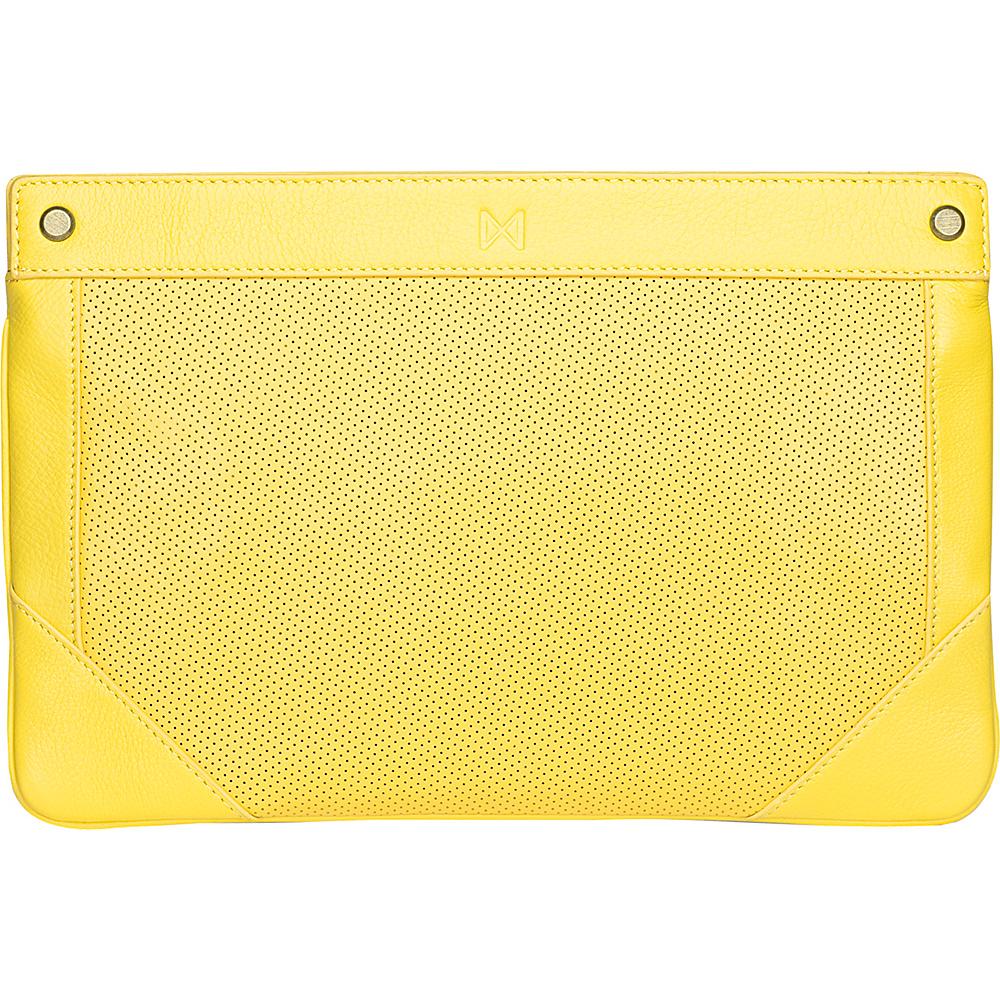 MOFE Lacuna Clutch Yellow Brass Hardware MOFE Leather Handbags