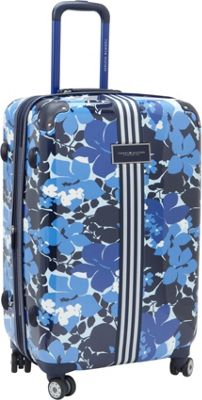Tommy Hilfiger Luggage Floral 24 Upright Exp. Hardside Spinner Blue - Tommy Hilfiger Luggage Hardside Checked