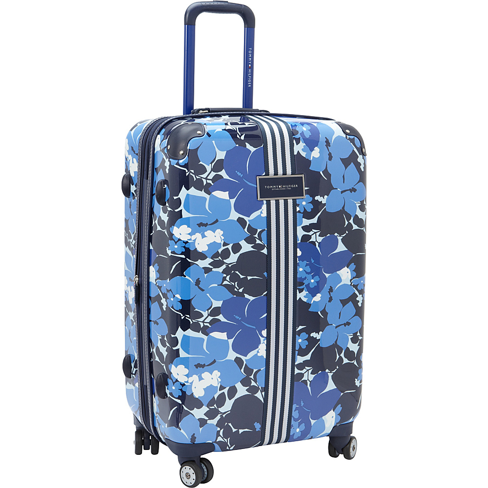 Tommy Hilfiger Luggage Floral 24 Upright Exp. Hardside Spinner Blue Tommy Hilfiger Luggage Hardside Checked