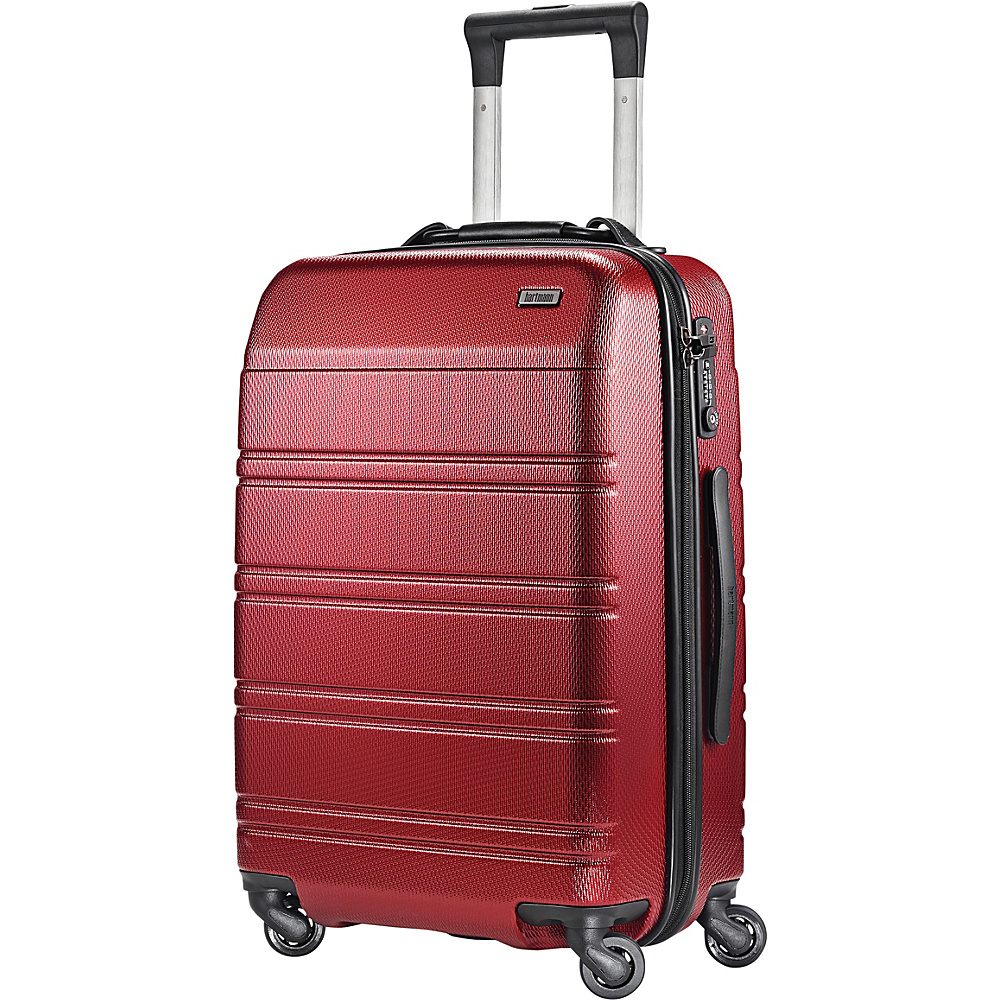 Hartmann Luggage Vigor 2 Spinner Garnet Red Hartmann Luggage Hardside Carry On
