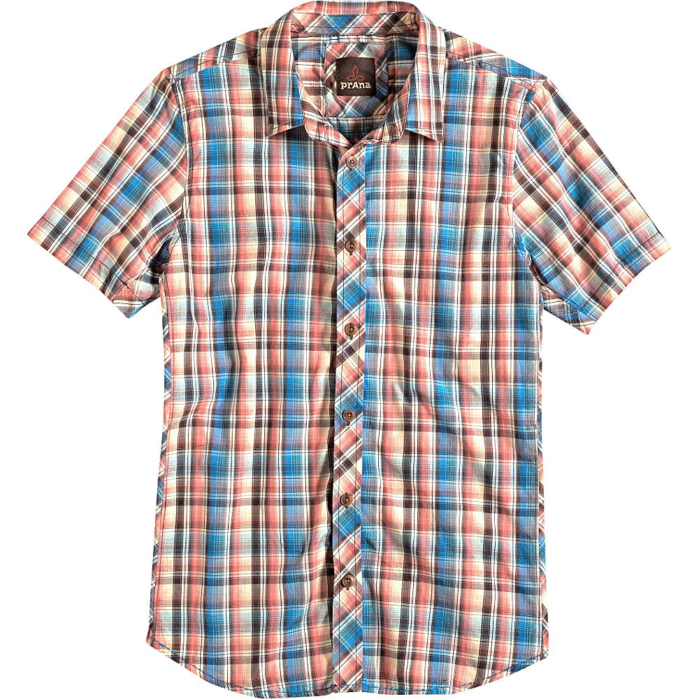 PrAna Elliot Slim Fit Shirt L - Cove - PrAna Mens Apparel - Apparel & Footwear, Men's Apparel