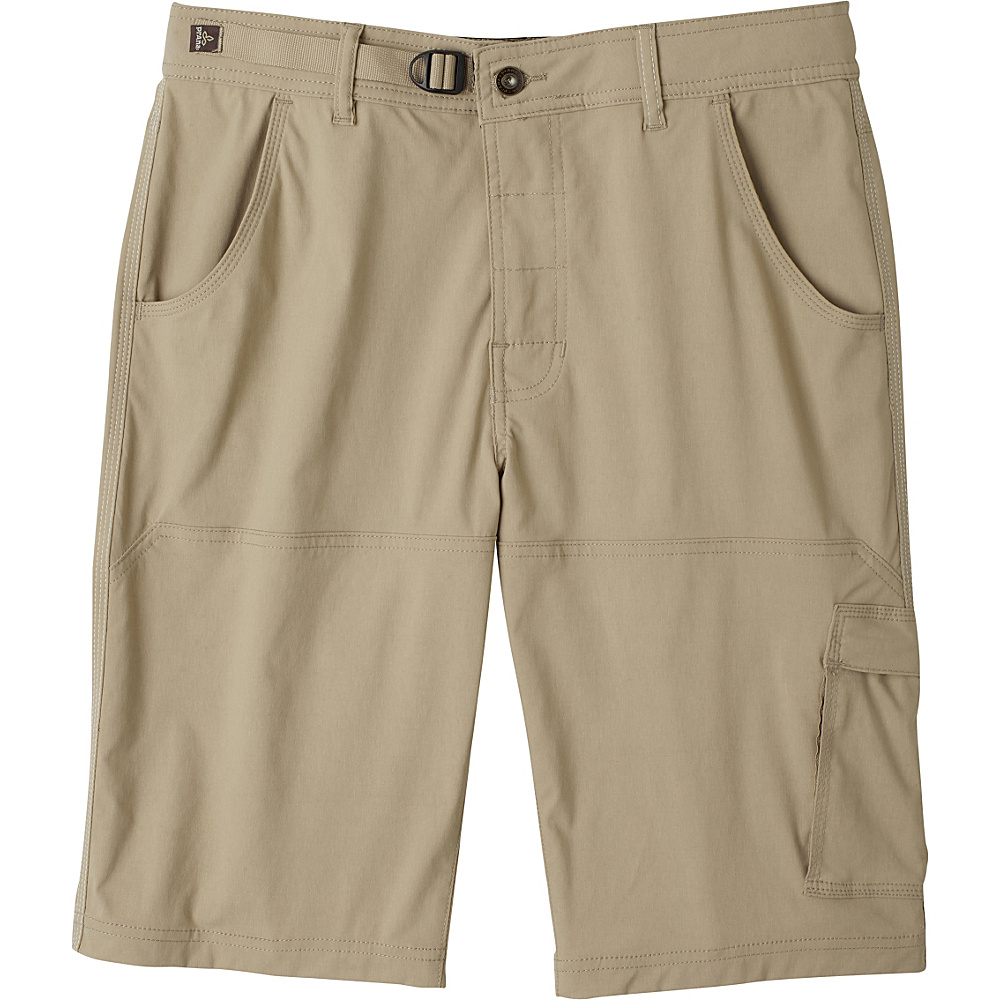 PrAna Stretch Zion Shorts 34 - Dark Khaki - PrAna Mens Apparel - Apparel & Footwear, Men's Apparel