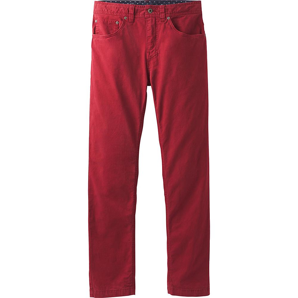 PrAna Tucson Slim Fit Pants - 30 Inseam 34 - Crimson - PrAna Mens Apparel - Apparel & Footwear, Men's Apparel