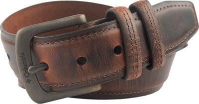 Columbia 40MM Non-Reversible with Decorative Stitch and Double Loop Brown - 44 - Columbia Other Fashion Accessories