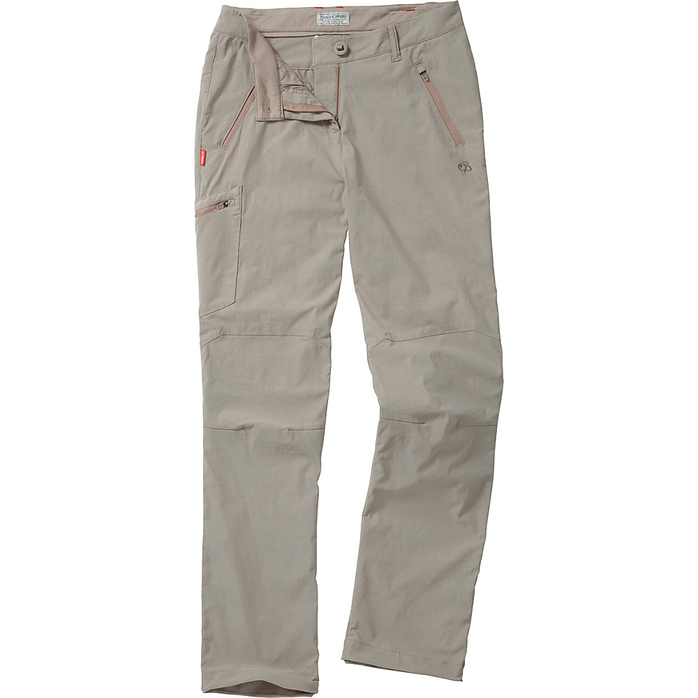 Craghoppers Nosilife Pro Trousers - Regular 6 - Mushroom - Craghoppers Womens Apparel - Apparel & Footwear, Women's Apparel
