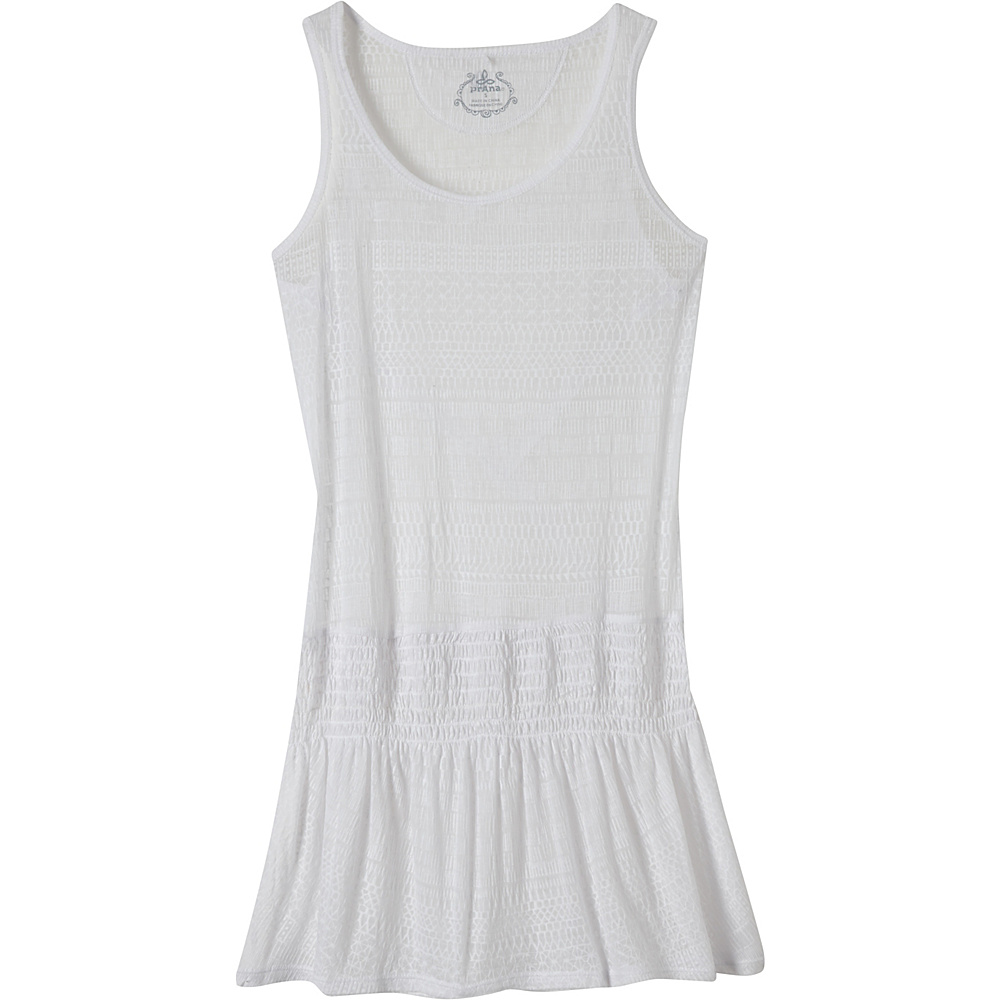 PrAna Zadie Dress L - White - PrAna Womens Apparel - Apparel & Footwear, Women's Apparel