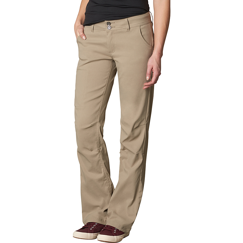 PrAna Halle Pants - Regular Inseam 8 - Dark Khaki - PrAna Womens Apparel - Apparel & Footwear, Women's Apparel
