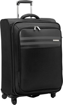 Calvin Klein Luggage Greenwich 2.0 25 Upright Softside Spinner Black - Calvin Klein Luggage Softside Checked