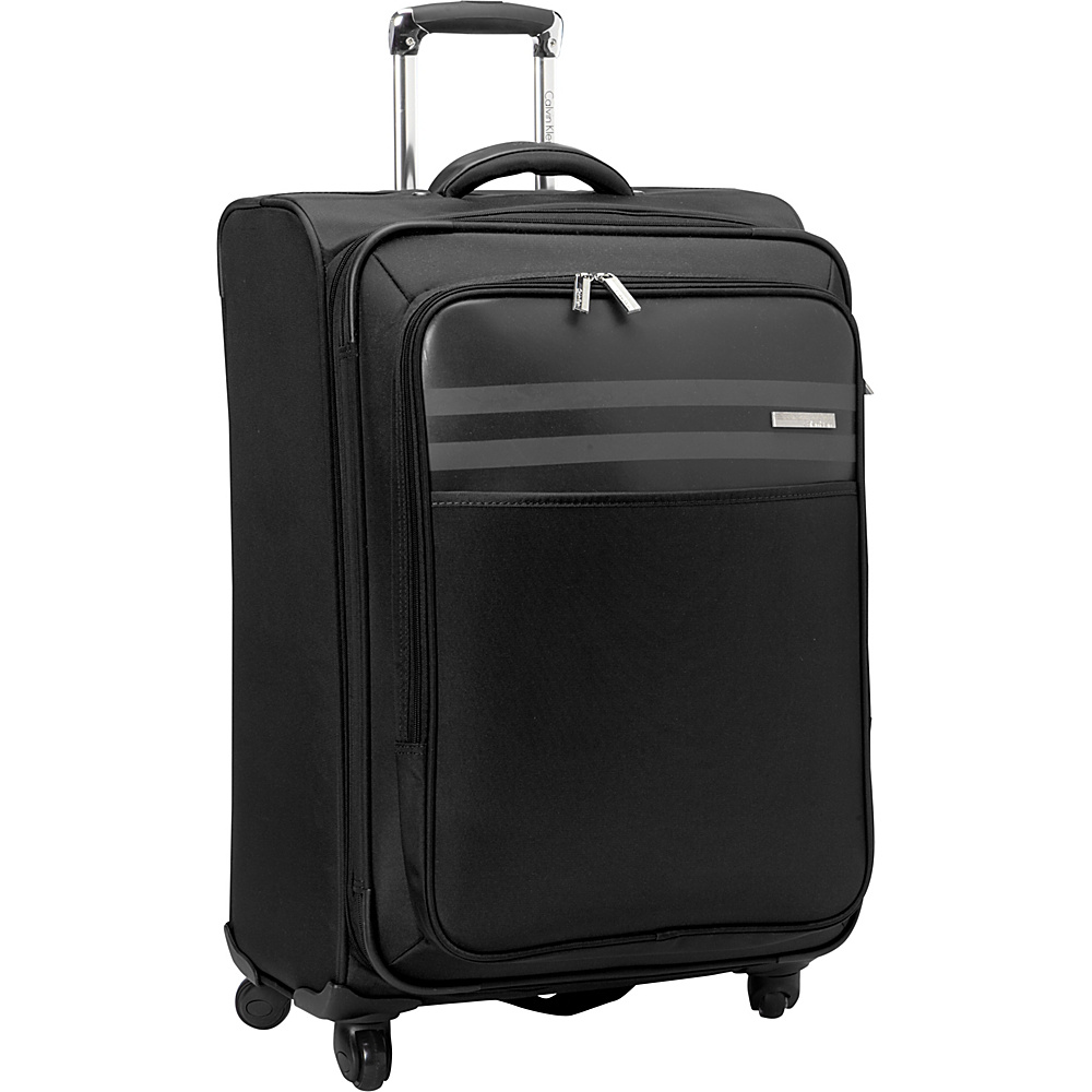 Calvin Klein Luggage Greenwich 2.0 25 Upright Softside Spinner Black Calvin Klein Luggage Softside Checked