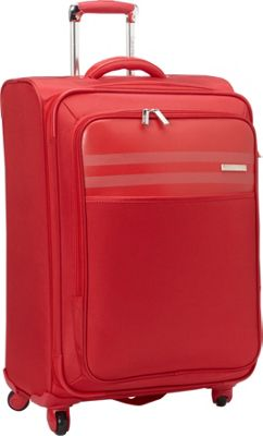 Calvin Klein Luggage Greenwich 2.0 25 Upright Softside Spinner Red - Calvin Klein Luggage Softside Checked