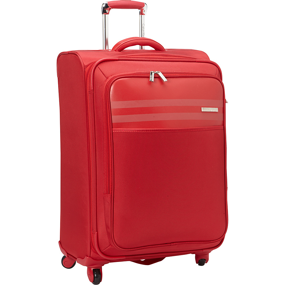 Calvin Klein Luggage Greenwich 2.0 25 Upright Softside Spinner Red Calvin Klein Luggage Softside Checked