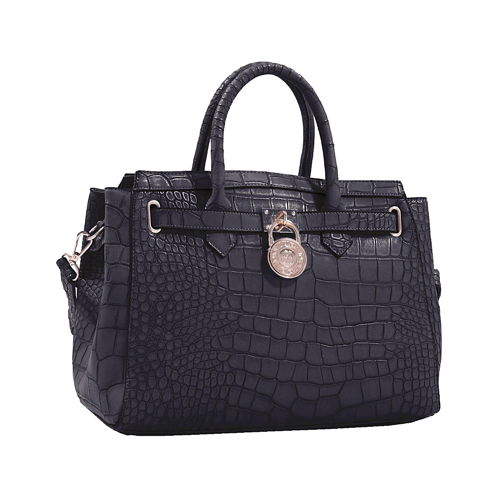 MKF Collection Bedelia Croco Satchel Black MKF Collection Manmade Handbags