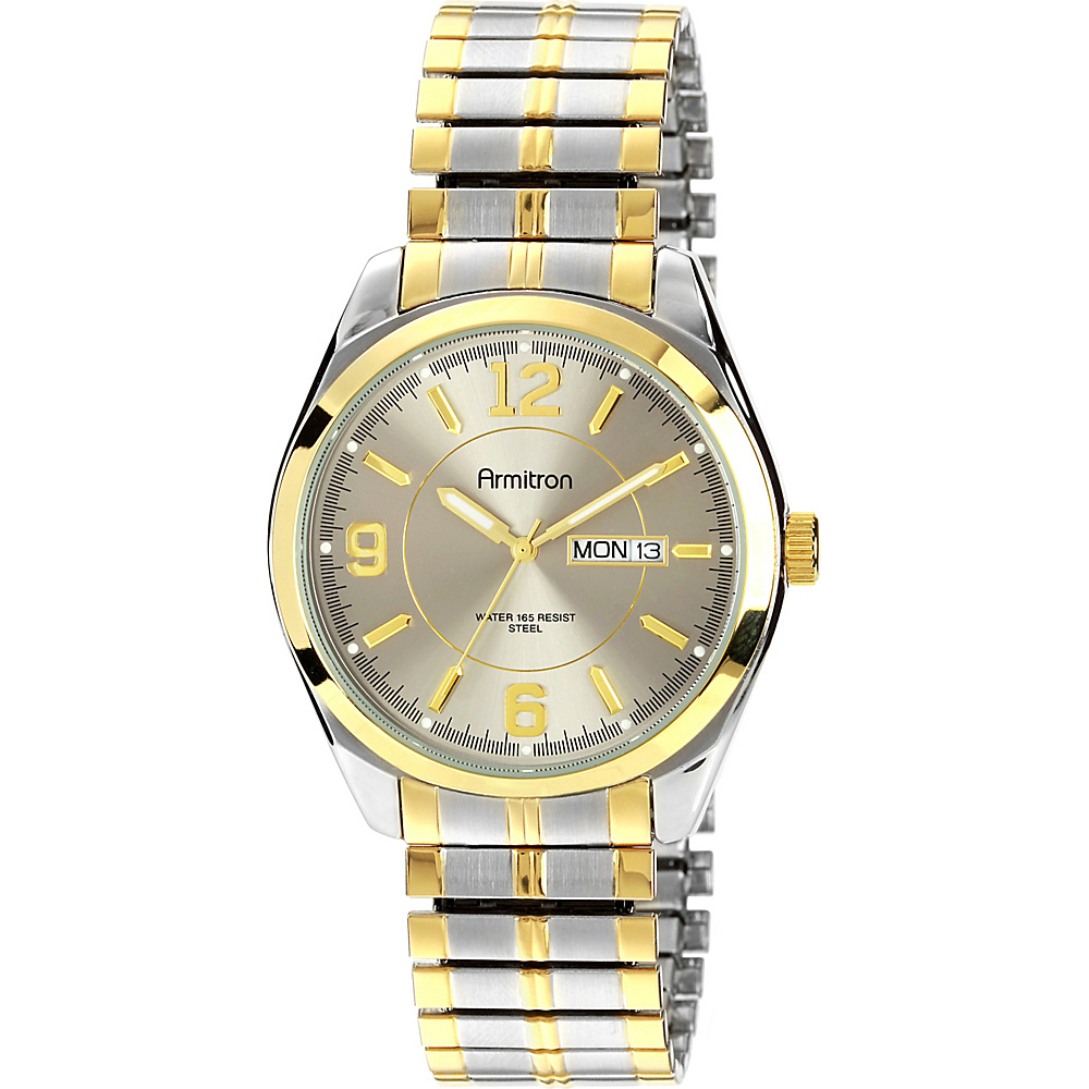 Armitron Mens Two Tone Expansion Band Dress Watch Two Toned Armitron Watches