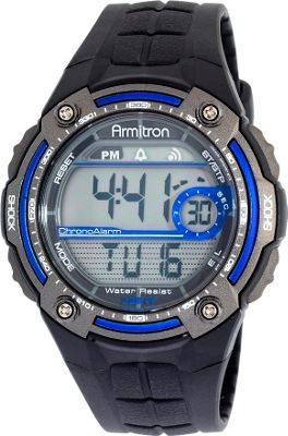 Armitron Sport Mens Sport Watch with Black Rubber Band Blue - Armitron Watches