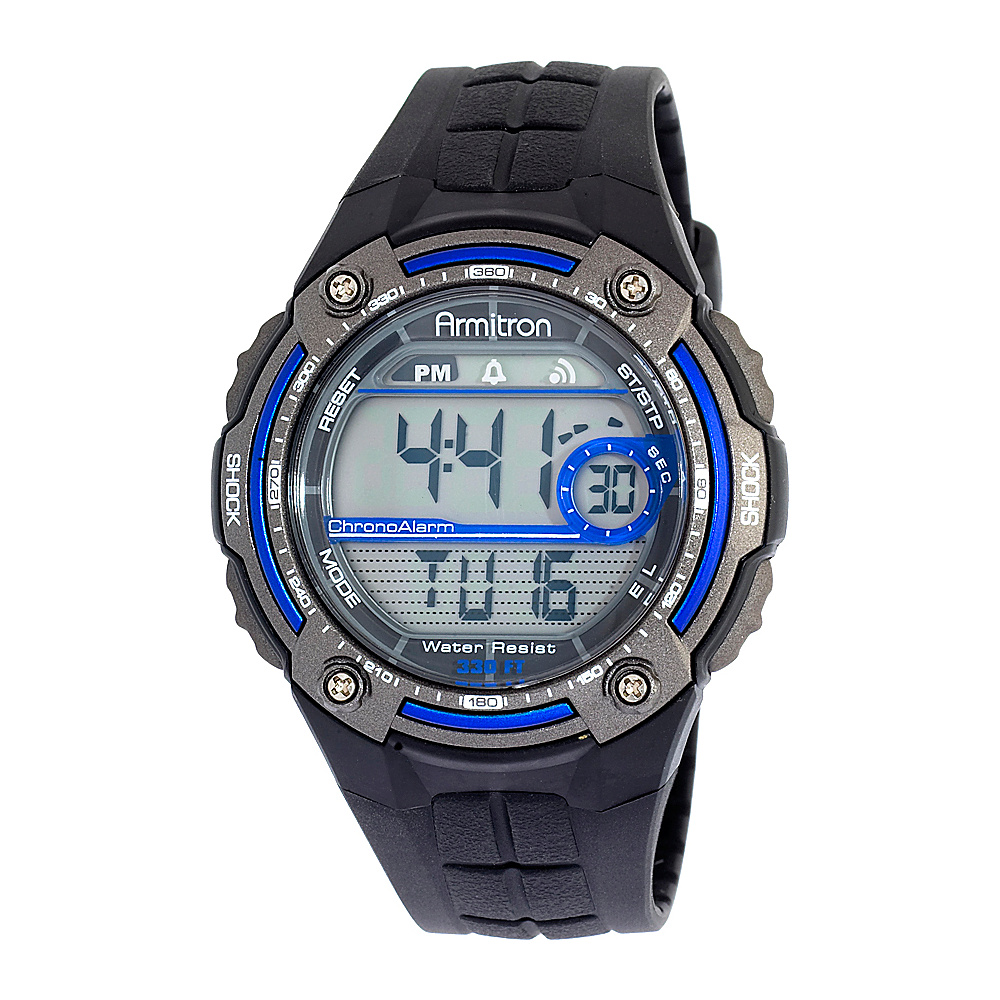 Armitron Sport Mens Sport Watch with Black Rubber Band Blue Armitron Watches