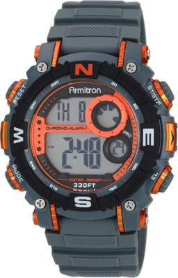 Armitron Sport Mens Digital Chronograph Resin Strap Watch Orange - Armitron Watches