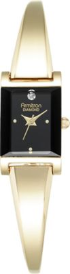 Armitron Womens Diamond-Accented Bangle Watch Gold - Armitron Watches