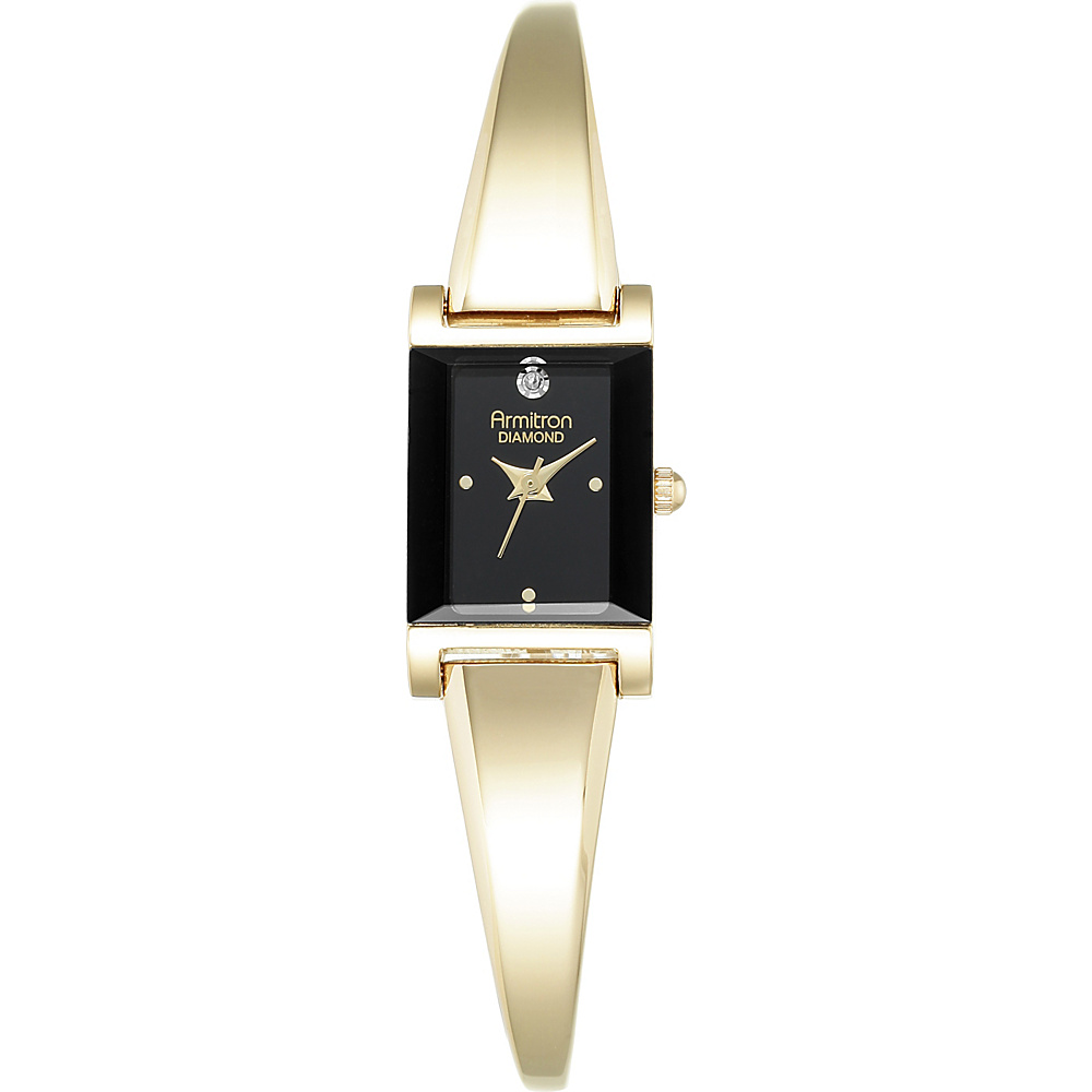 Armitron Womens Diamond Accented Bangle Watch Gold Armitron Watches
