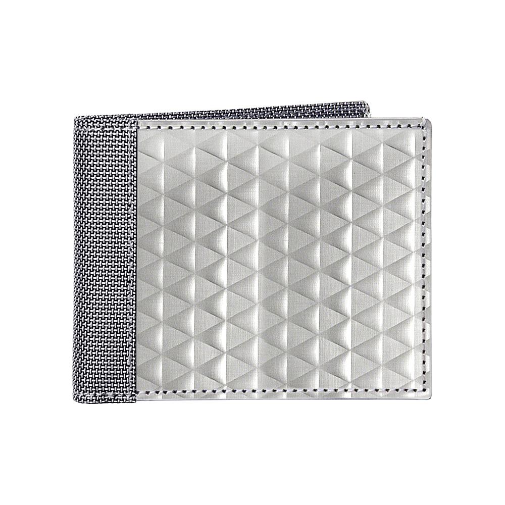 Stewart Stand RFID Billfold Triangle Texture Silver Stewart Stand Men s Wallets
