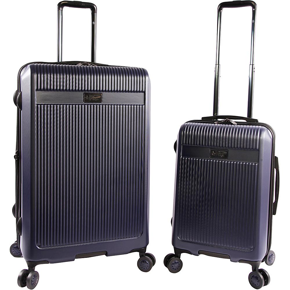 Original Penguin Luggage Penguin 2 Piece Hardside 8 Wheel Spinner Expandable Luggage Set Navy - Original Penguin Luggage Luggage Sets