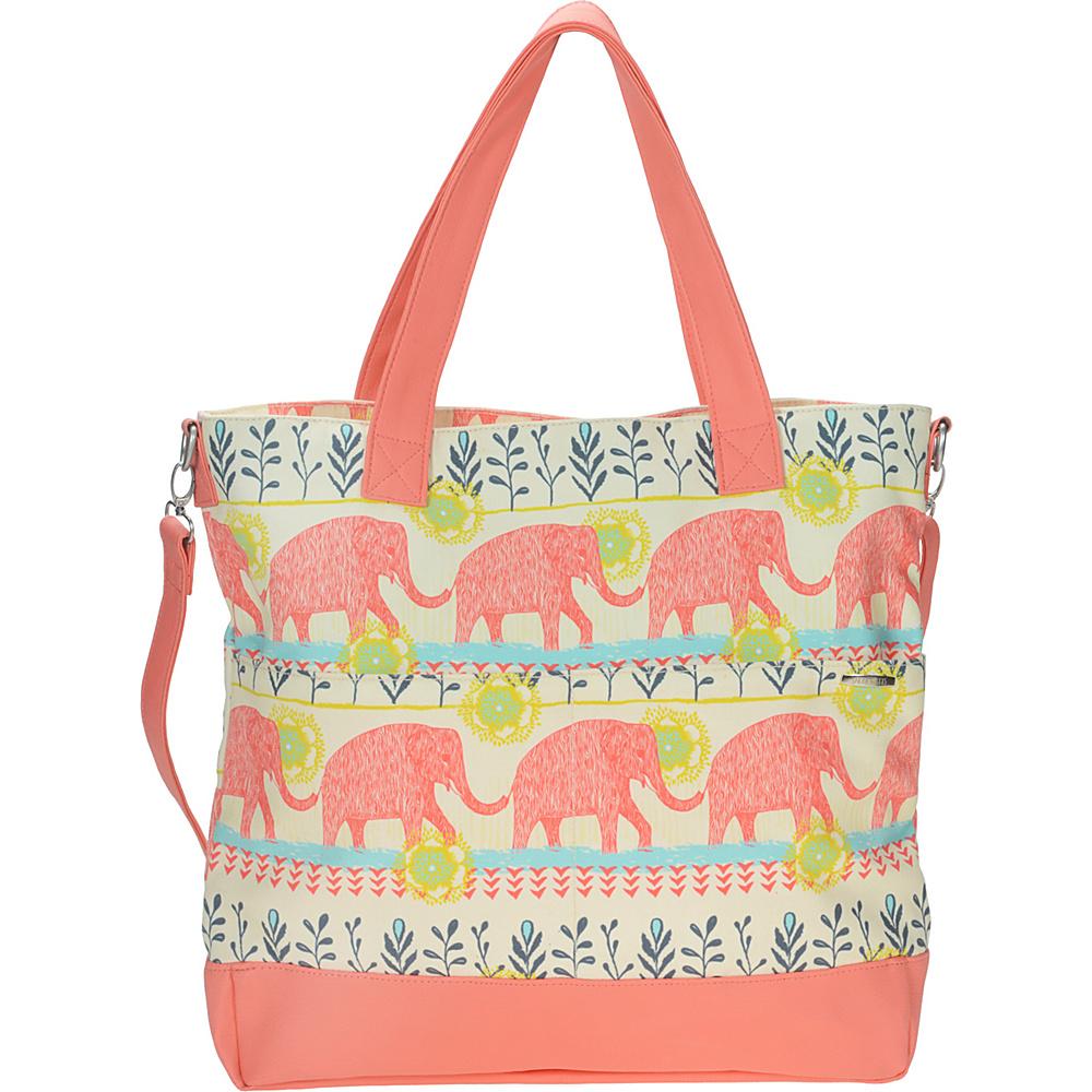 Capri Designs Sarah Watts Carryall Bag Elephant - Capri Designs Fabric Handbags